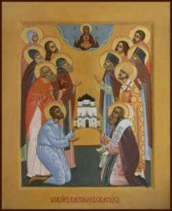 Пятилетие Яранской епархии отметили освящением храма в честь Собора Вятских святых
